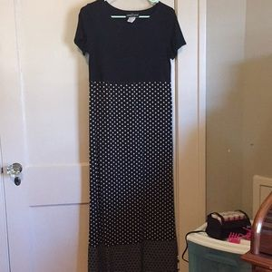 Long two colored dress